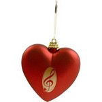 Aim AIM9223 G-clef Red Heart Ornament