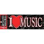 Aim AIM50301 Bumper Sticker - I Heart Music