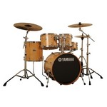 Yamaha SBP0F56W Stage Custom Birch 5-PIece Shell Pack with Hardware Included, Natural Wood
