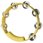 "Rhythm Tech TC4058 8"" True Colors Tambourine, Yellow"