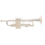 Bach LR180S37 Stradivarius Professional Trumpet with Reverse Leadpipe- Silver