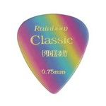 Pickboy PB21P075 Vintage Pick, Rainbow, Cellulose, .75mm, 10 Picks