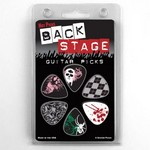 Hotpicks 1BSRCS01 Back Stage 01 Picks Clamshell 6-Pack