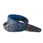 Right On! 8401070100140 Mojo Paisley Blue Guitar Strap