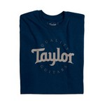 Taylor 1654 Two-Color Logo T, Navy