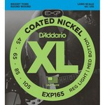 D'Addario EXP165 Coated Bass Guitar Strings, Light Top/Medium Bottom, 45-105, Long Scale