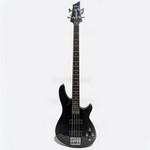 Used Schecter Omen-4 Electric Bass, Black