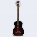 Used Fender T-Bucket Acoustic Bass, Trans Cherry Burst